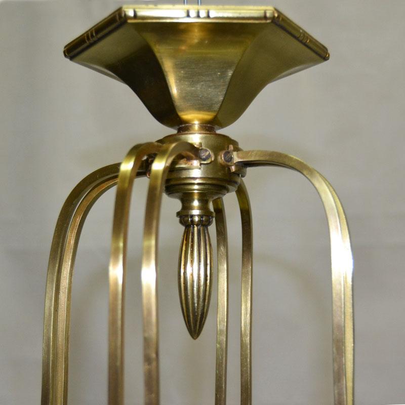 Anticuarios Madrid Muebles : Gran lámpara en bronce alabastro años ulysse art