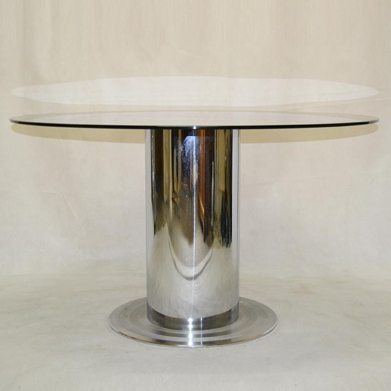 De comedor mesa acero y vidrio ulysse art dec - Mesas comedor cristal y acero ...