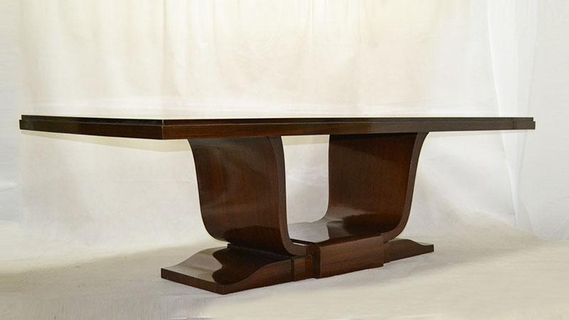Gran mesa en palisandro   Ulysse Art Decó   Anticuarios muebles ...