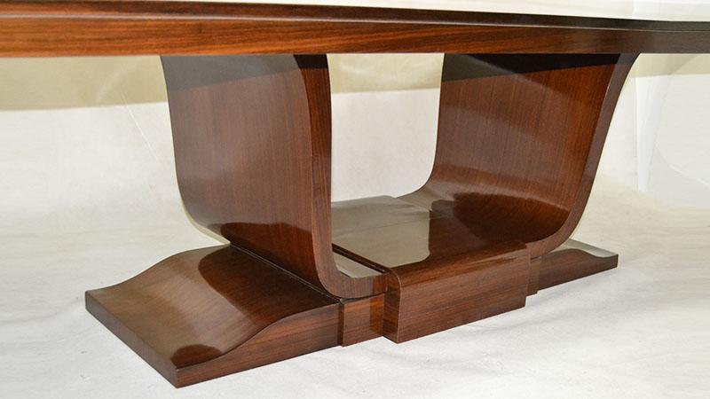 Gran mesa en palisandro ulysse art dec anticuarios - Anticuarios madrid muebles ...