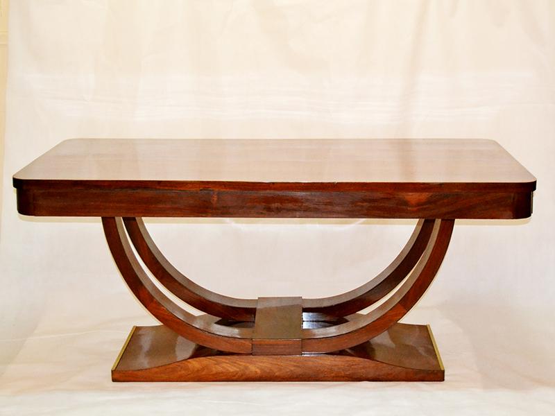 Gran mesa en palisandro de rio   Ulysse Art Decó   Anticuarios ...