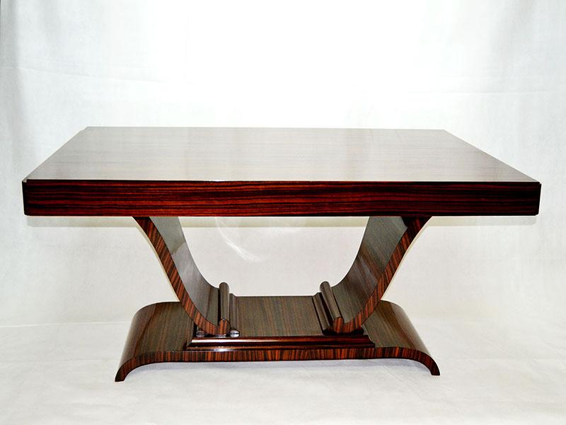 De comedor   Gran mesa Art Deco ebano de macassar   Ulysse Art Decó ...