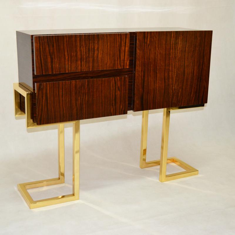 Muebles varios mueble auxiliar ebano macassar ulysse - Mueble art deco ...